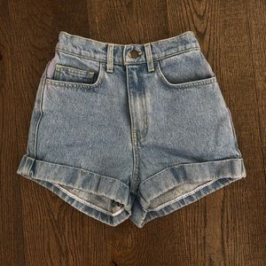 American Apparel Denim Shorts
